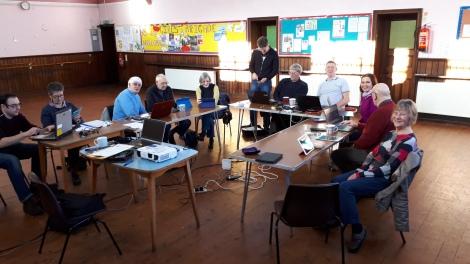 Group technology class photograph