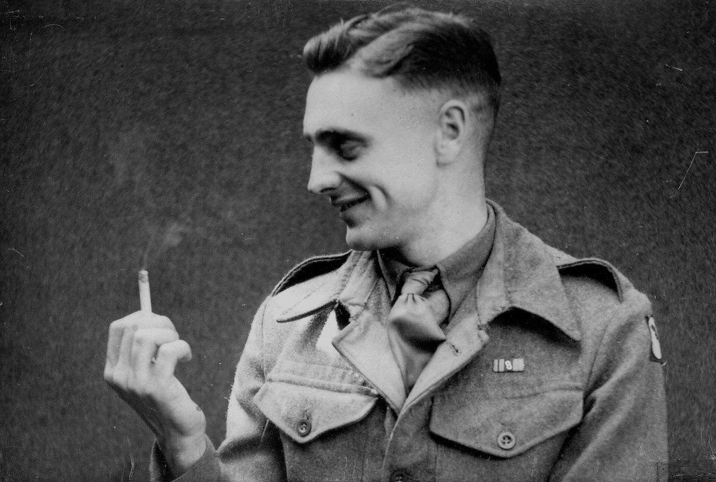 George Berry after returning home during the Second World War, seen here after the Desert Campaign before going to the Normandy beaches.